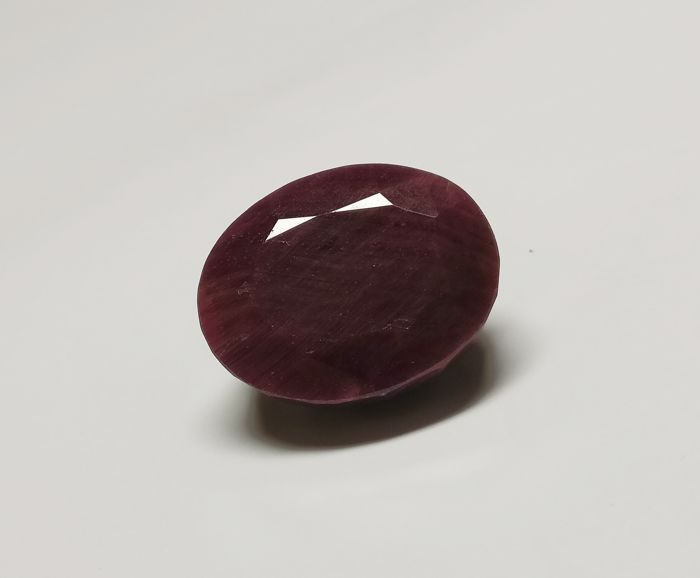 Ruby Dark Purplish Red ( Opaque ) 94.43 ct - No Reserve