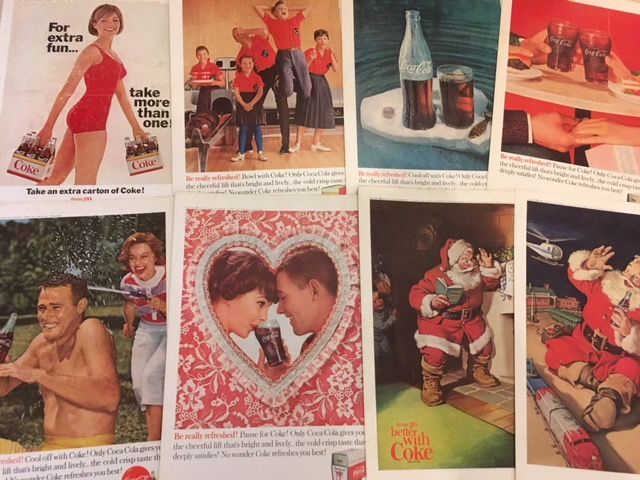 Lot of (25) Coca Cola Advertising-1935-1965