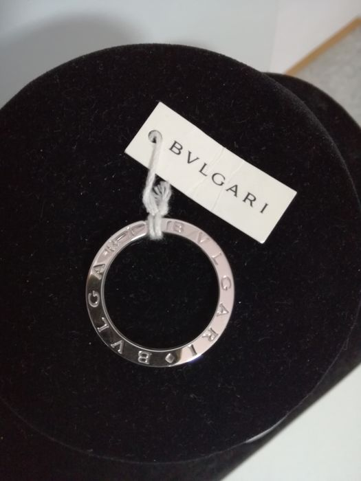 Bulgari silver 925/000 keyring with chain