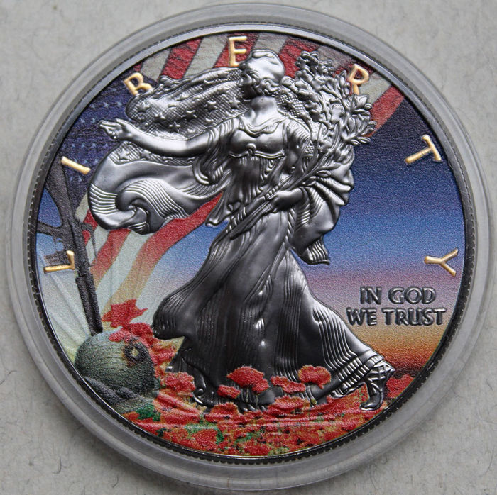 United States - Dollar 2017 'Eagle' 'Liberty Veterans Day' - 1 oz silver