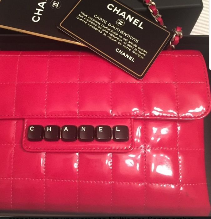 640a81ad5ed03c Chanel - Patent Square Stitched Digital Flap Clutch bag - Catawiki