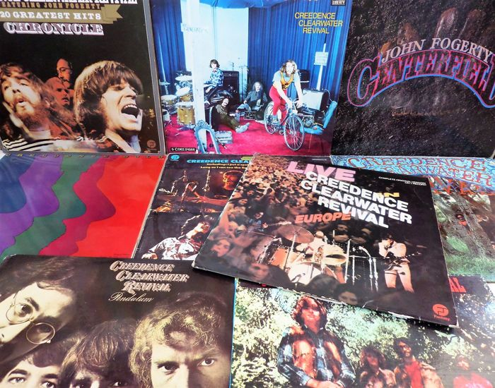 Creedence Clearwater Revival. Lot of nine beautiful albums of this great band.