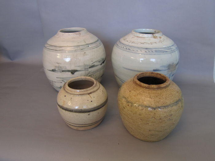 4 Ginger Jars - China - 19th century