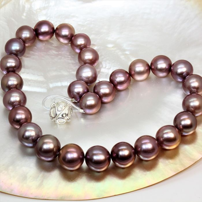 Rare hudge Ø 14x16 mm - FWP Edison cultured pearls - natural colors