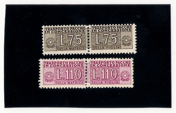 Republic of Italy, 1947-1953 - Parcels in Concession and Authorised Address Mail - Sassone No. 1-4