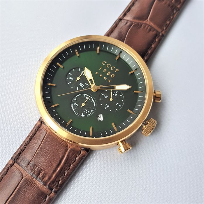 CCCP - Kashalot Dress Chronograph Gold - Homme - 2018 - New