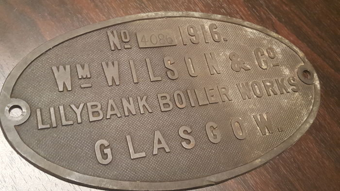 William Wilson & Co. Lilybank Boiler Works Glasgow / Scotland - Nominal plate + Johann Sebastian Staedtler, the inventor of colored pencils - son of the illustrator Paulus Staedtler - MARS - numbered - antique porcelain enamel - year 1900/1937