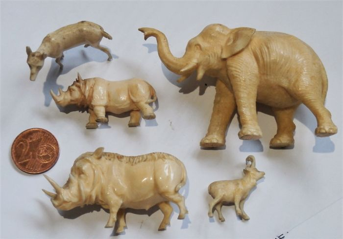 A collection of well carved ivory miniature animals germany nd