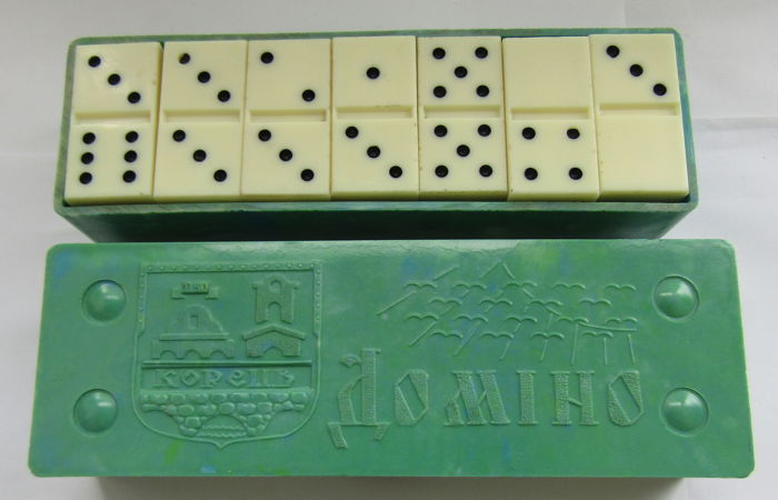 "Full set of the game ""Domino"", Ukraine in the USSR in 1973"