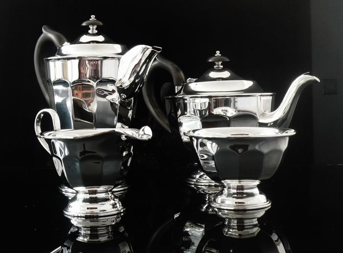 Immaculate Four Piece Silver Tea Set - Emile Viner - Sheffield - 1948/50