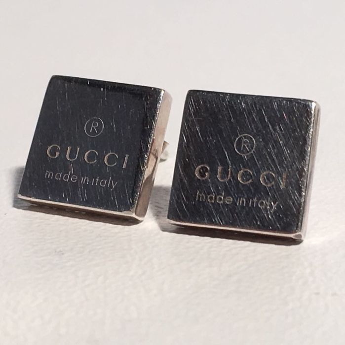 Gucci stud earrings 925 silver - No reserve price