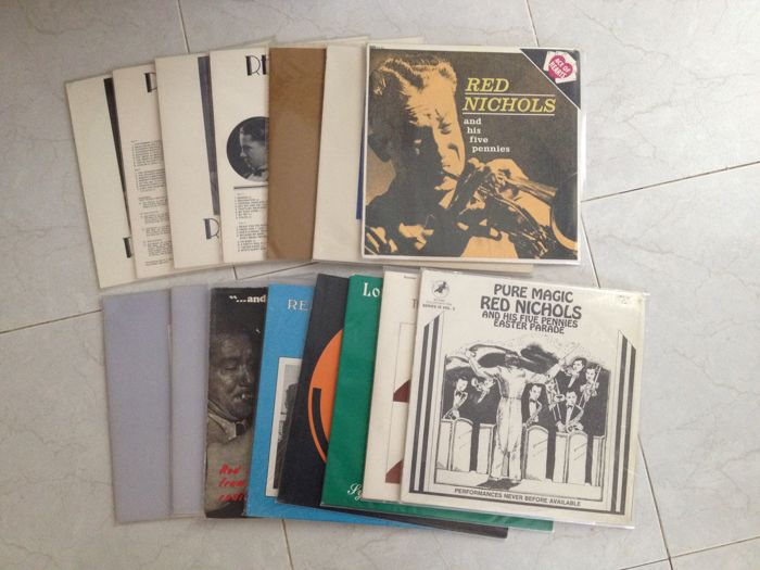 Red Nichols Lot With 15 Records