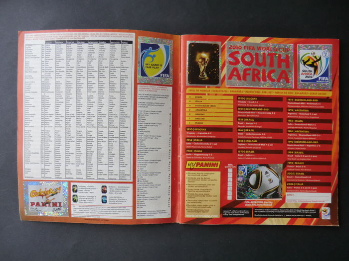 Panini - FIFA World Cup - South Africa 2010 - Complete album with order form