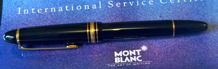 Montblanc Meisterstuck 146, fountain pen Le Grand, like new, 18 kt gold plated
