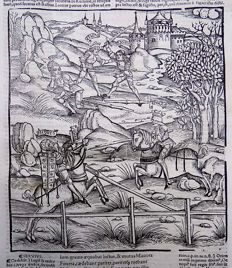 Master of Gruninger Folio with woodcut - Virgil - Aeneid - Joust, Knights in Armour - 1529