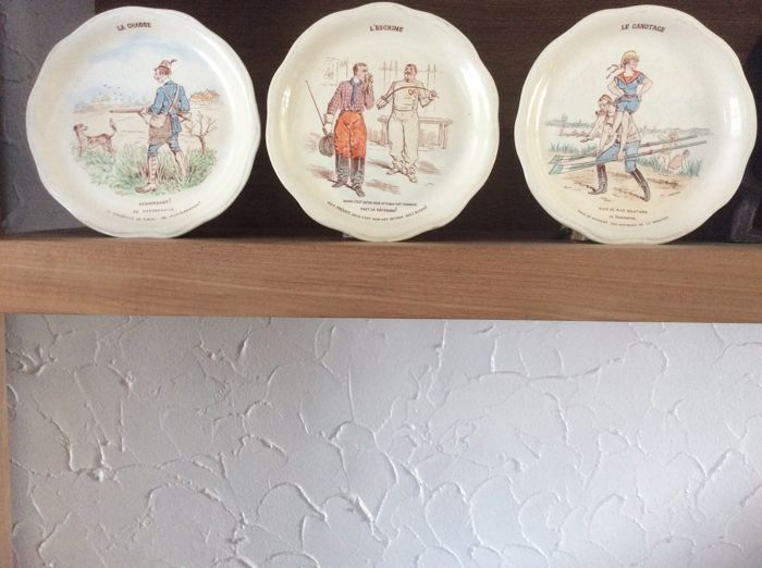 Lunéville Keller and Guérin - 3 talking plates