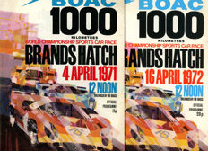 2 x motor racing programmes for the 1971 and 1972 BOAC Brands Hatch 1000 km Race Porsche