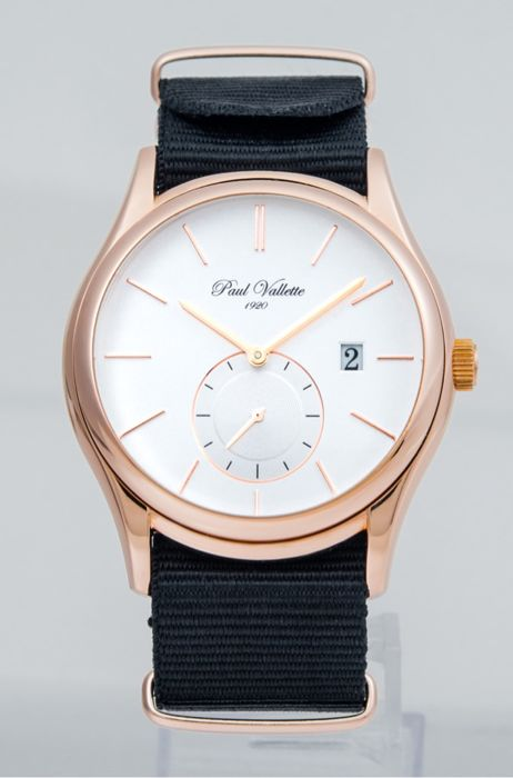 Paul Vallette  - Prestige pink gold plated Quartz Men''s watch - PVP-2017-03-BLK - Herren - 2011-heute