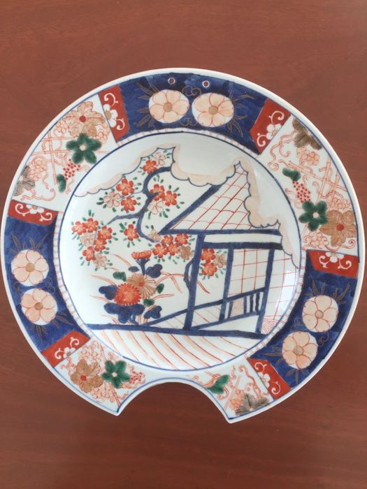 Imari porcelain shaving basin -