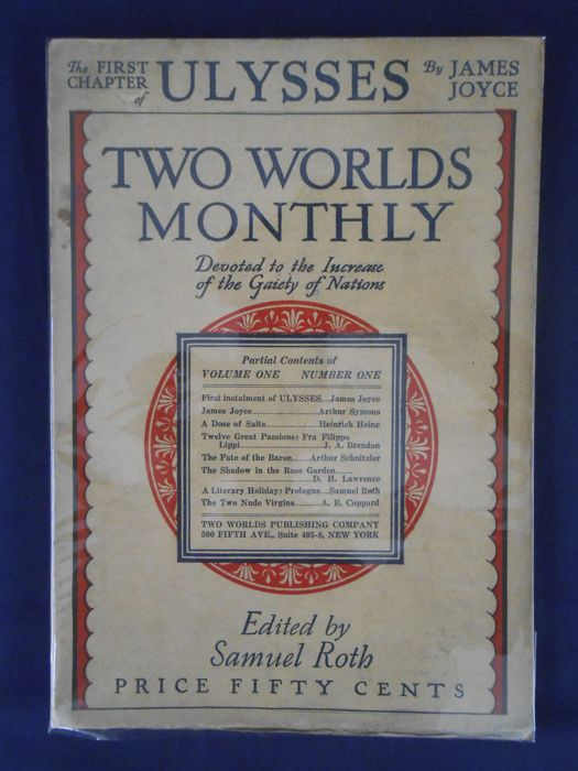 James Joyce Ulysses In Two Worlds Monthly 11 Voll Completa 1926 Catawiki