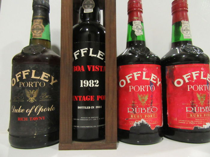 1982 Vintage Port Offely (Boa Vista) & Rich Tawny Duke of Oporto Offley & Ruby Port Offley 2 bottles - Total 4 Bottles 75cl