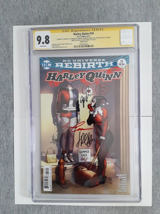 DC Comics - Harley Quinn - Rebirth #18 - Multiple Signed - CGC 9.8 - (2017)