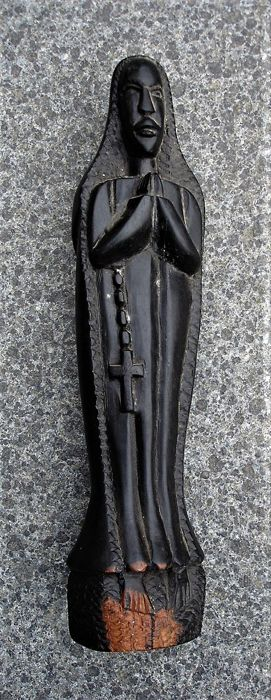 African wood carving of Mary - Africa