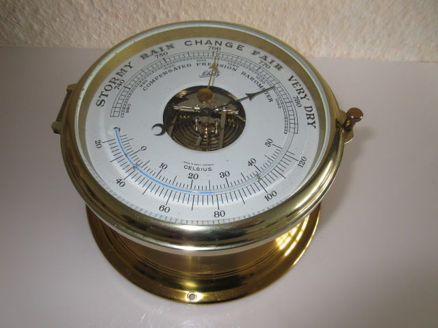 Schatz thermometer compensated precision ships barometer Royal Mariner