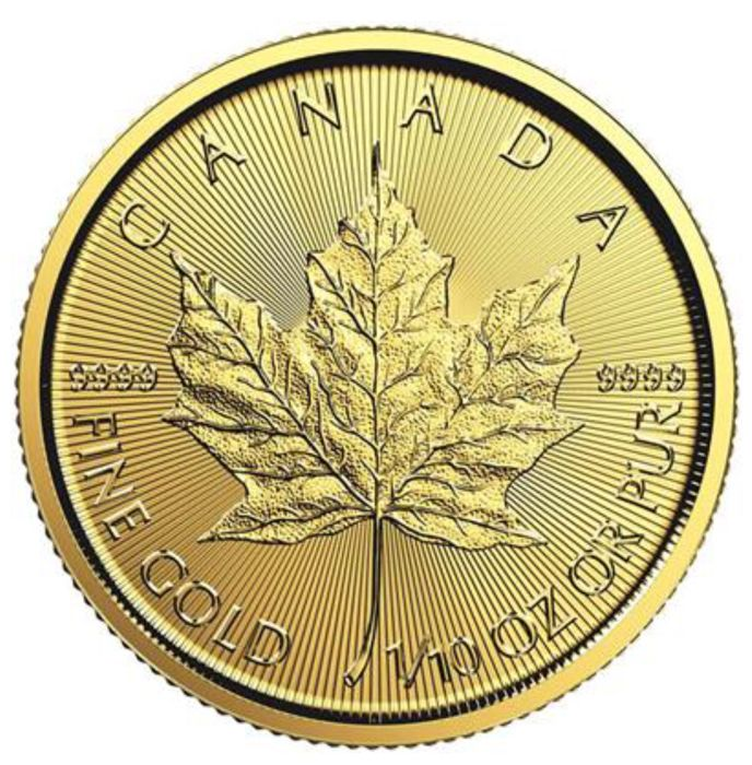 Canada - 5 Dollars 2018 - Maple Leaf - 1/10 oz - Oro