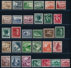 German Reich - 1937 - 1945 - collection with brown bands bands, International Motor Show and field post stamps