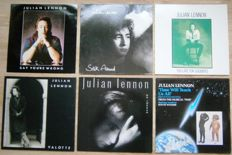 For the real Beatles collector: Julian Lennon: 6 vinyls! ( 1 LP and 5 Maxi-singles.)  All Near Mint to Mint