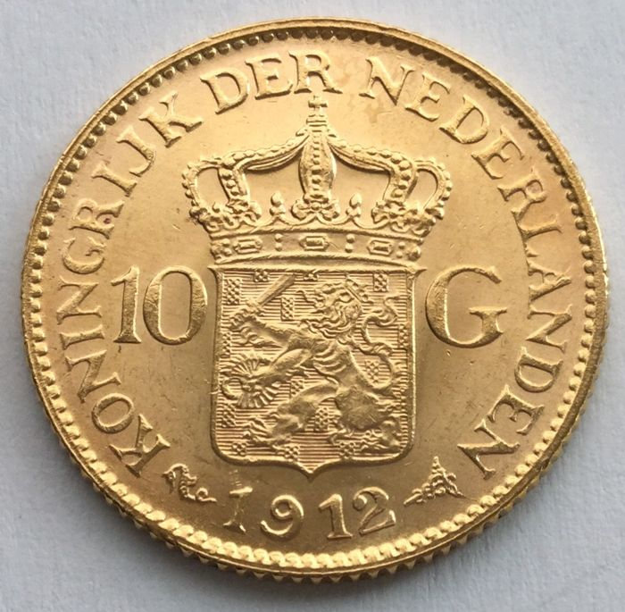 Netherlands – 10 guilder 1912 – Wilhelmina – gold