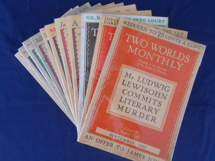 """James Joyce - """"Ulysses"""" in Two Worlds Monthly. 11 voll. completa - 1926"""