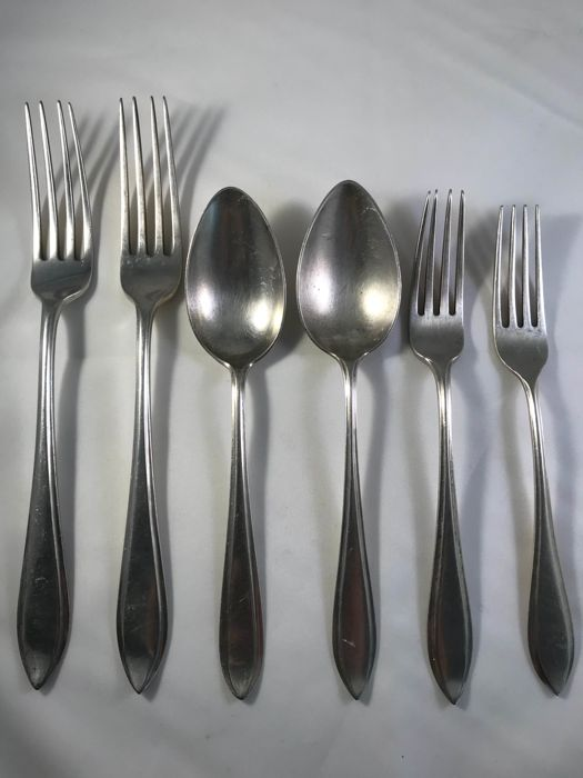 Set of forks and spoons, the Netherlands, 20th century