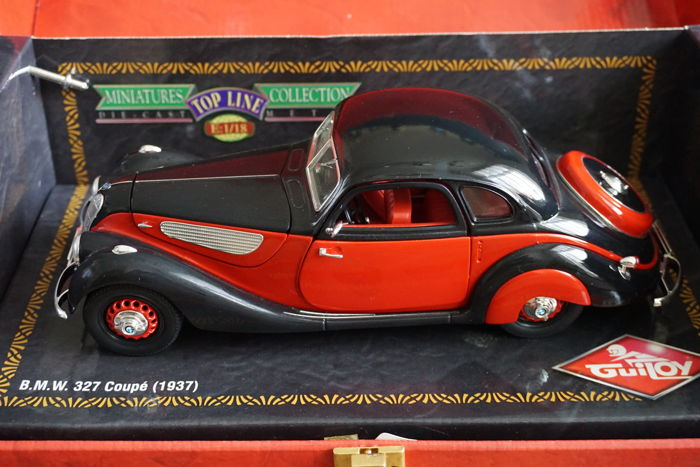 Guiloy Top Line - Schaal 1/18 - BMW 327 Coupe 1937 E 136 Black red ...