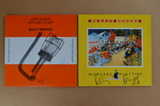 2 Albums by signed by  Billy Bragg