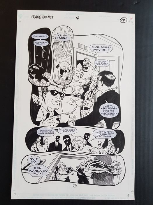 Anthony Williams - Original Art Page - Scare Tactics #4 - Page 14 - (1998)