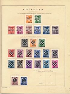 Croatia NDH - 1941-1945 - collection on album sheets