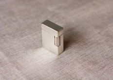 Dupont Lighter, Silver Plated, Vertical Lines, 1990s
