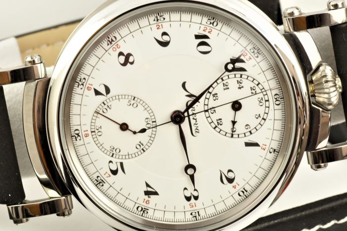 Swedish Army  Minerva - marriage watch - chronograph  cal. 19-9CH - 1524354 - Herren - 1901-1949
