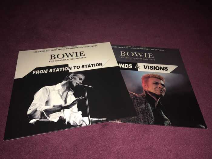"David Bowie - Lot of 2 Limited Hand Numbered Coloured Lp`s; ""Sounds And Vision"" and ""From Station To Station"""