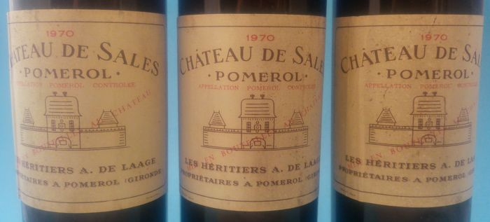1970 Chateau de Sales, Pomerol - 3 bottles
