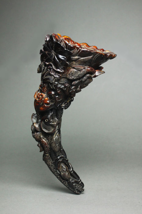 A horn carving  cup - China  - 21th century