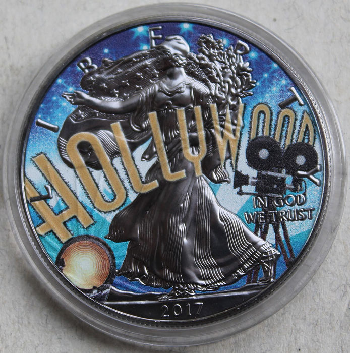 VS - 1 Dollar 2017 'American Eagle - Hollywood' - 1oz - Zilver