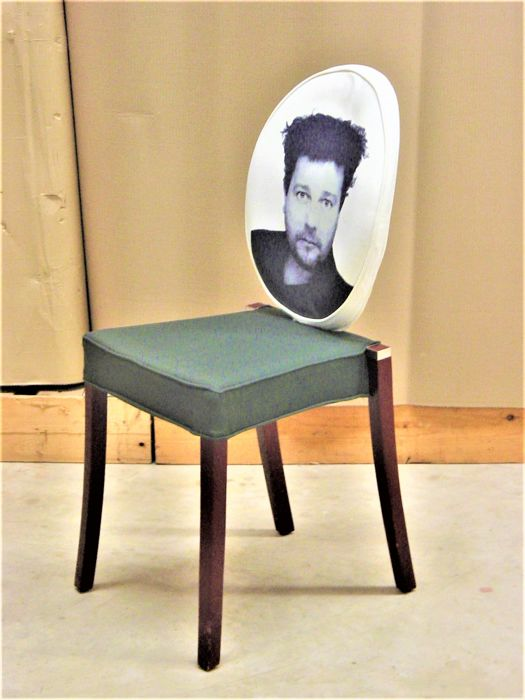 Philippe Starck for xO - Chair 'Peninsula' with the portrait of the designer