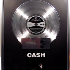"Johnny Cash - CASH - American IV The Mans comes around -  12"" Universal Music platinum plated record with CD and cover by WWA gold Awards"