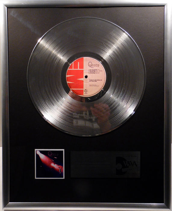 "Queen - Queen  - 12"" EMI Record platinum plated record by WWA Awards"