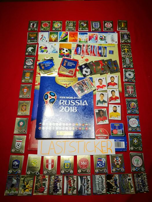 Panini - Russia 2018  World Cup - Complete loose stickerset + empty album + 2 packets + extra set full macdonalds stickers