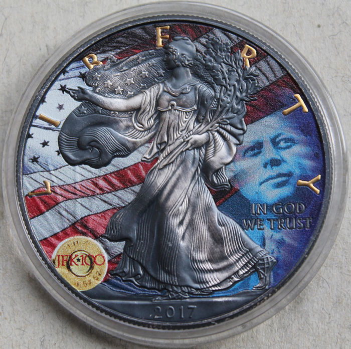 United States - 1 Dollar 2017 Liberty - J.F. Kennedy - 1 Oz - Silver