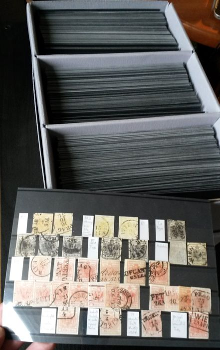 Austria 1850/2000 - collection from the beginning on 350 stock cards